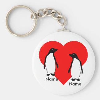Chaveiro do casal do amor do pinguim