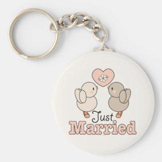 Chaveiro do casamento do recem casados dos pássaro