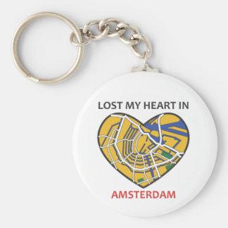 Chaveiro do coração da Amsterdão-Cidade