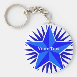Chaveiro do costume da estrela azul