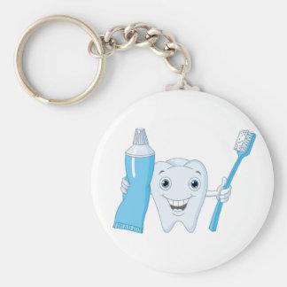 Chaveiro do dente e da escova de dentes