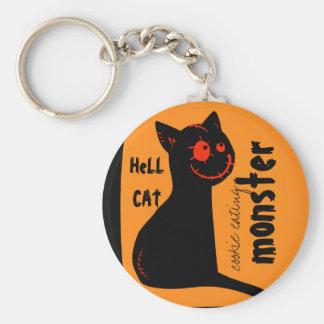 chaveiro do Dia das Bruxas do gato preto do infern