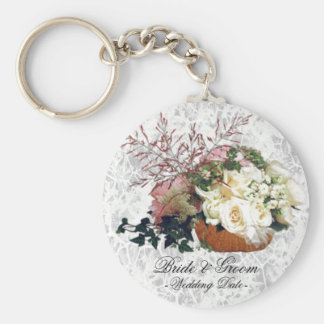 Chaveiro do favor do casamento do buquê floral