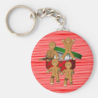 Chaveiro do feriado do Natal dos homens de pão-de-