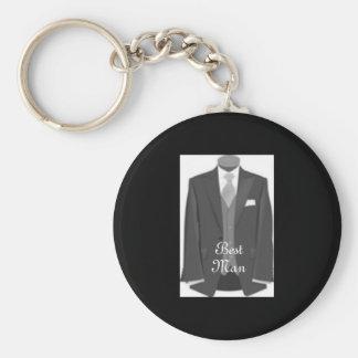 Chaveiro do homem do anel chave do smoking do