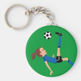 Chaveiro do jogador de futebol da menina