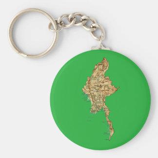 Chaveiro do mapa de Myanmar