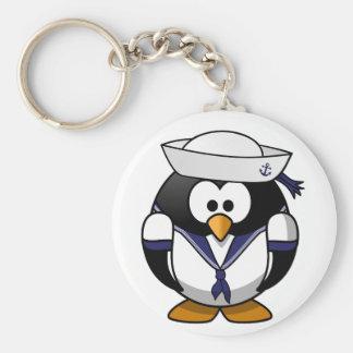 Chaveiro do marinheiro do pinguim