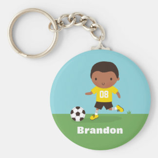Chaveiro do menino do jogador de futebol do