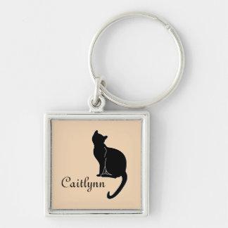 Chaveiro do nome do gato preto