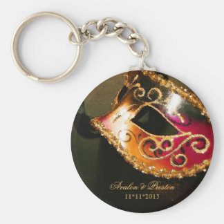 Chaveiro do ouro do favor do casamento do mascarad