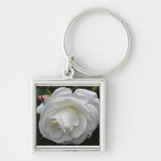 Chaveiro do rosa branco