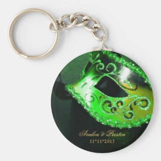Chaveiro do verde do favor do casamento do mascara