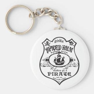 Chaveiro Drinkin temperou o rum faz-lhe um pirata