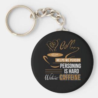 Chaveiro Duro da pessoa da ajuda do café sem cafeína