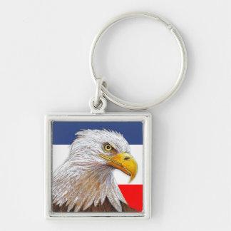 Chaveiro Eagle no vermelho, no branco & no azul