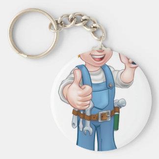 Chaveiro Eletricista do trabalhador manual com chave de
