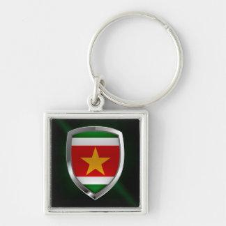 Chaveiro Emblema metálico de Suriname