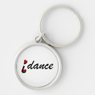 Chaveiro Eu amo a corrente chave superior da dança