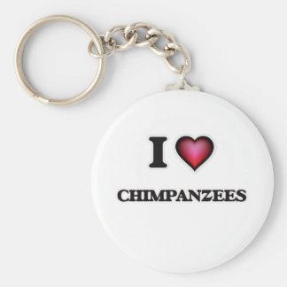 Chaveiro Eu amo chimpanzés
