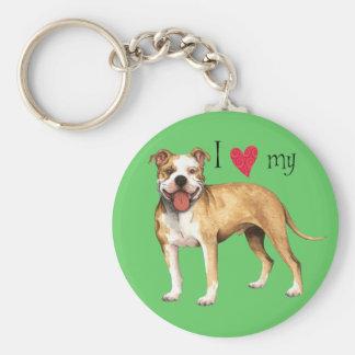 Chaveiro Eu amo meu pitbull Terrier