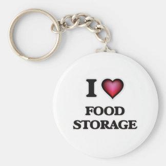 Chaveiro Eu amo o armazenamento da comida
