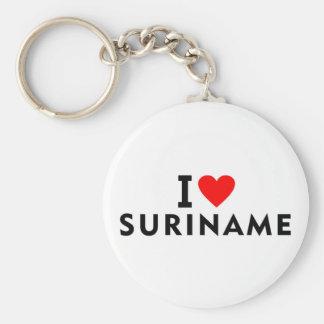 Chaveiro Eu amo o país de Suriname como o turismo do viagem