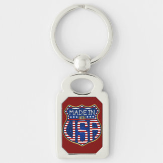 Chaveiro Feito nos EUA 4ns do logotipo americano orgulhoso