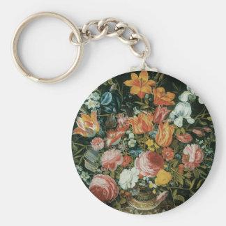Chaveiro Flores barrocos da vida do vintage ainda em um