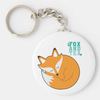 Chaveiro Fox e anel chave do chá - N.1