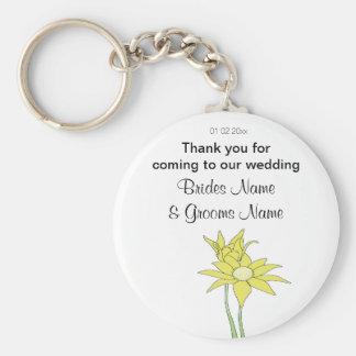 Chaveiro Girassóis que Wedding ofertas das lembranças das