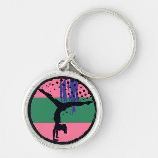Chaveiro Gymnast verde cor-de-rosa da arte abstracta