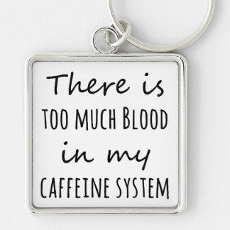 Chaveiro Há demasiado sangue em meu sistema da cafeína