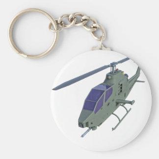 Chaveiro Helicóptero de Apache na vista dianteira