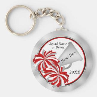 Chaveiro Ideias, vermelho e branco personalizados do