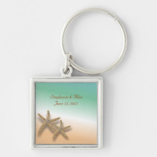 Chaveiro Jeweled do casamento da estrela do mar