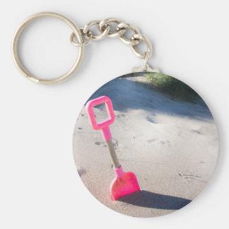 Chaveiro Keyring/chaveiro cor-de-rosa da pá da praia