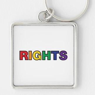 Chaveiro Letras dos direitos