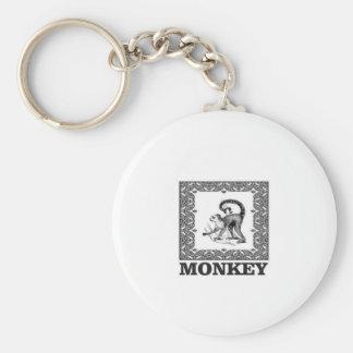 Chaveiro macaco em uma caixa
