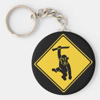 Chaveiro Macacos do cuidado, sinal de tráfego, Formosa