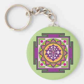 Chaveiro Mandala de Sri Yantra