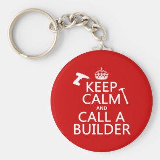 Chaveiro Mantenha a calma e chame um construtor (alguma