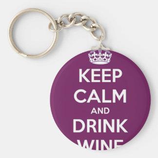 Chaveiro Mantenha vinho calmo e da bebida