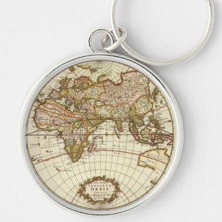 Chaveiro Mapa do mundo antigo, C. 1680. Por Frederick de