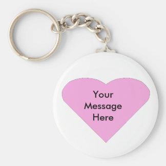 Chaveiro Modelo cor-de-rosa da mensagem do coração do amor