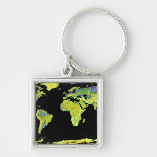 Chaveiro Modelo da elevação de Digitas dos continentes no