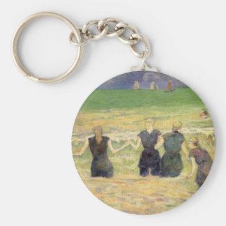 Chaveiro Mulheres que banham Dieppe por Paul Gauguin