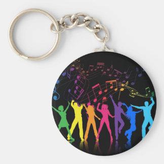 Chaveiro Notas musicais e dançarinos coloridos