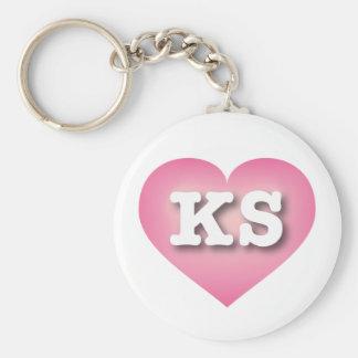 Chaveiro O rosa de Kansas desvanece-se coração - amor