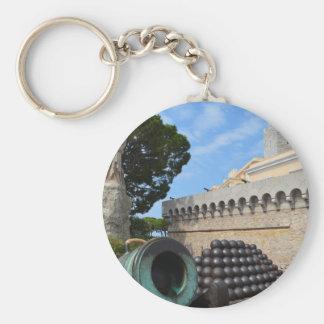 Chaveiro Palácio de Monaco - balas de canhão e canhões